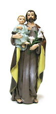 Statue St. Joseph & Jesus 4 inch Painted Resin Joseph Studio Saint Catholic