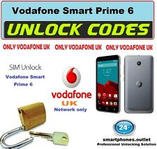 Vodafone UK Smart ultra 6 smart prime 6 Unlock Code locked to Vodafone UK only
