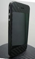 iPhone 4 * Black * 3M Di-Noc Carbon Fiber Vinyl Full Body Skin sticker