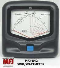 MFJ 842 SWR/Wattmeter VHF/UHF 140-525 MHZ, 150 Watts Mobile, Cross-needle meter