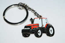 Case International Red Tractor Keyring- Farming Gift Novelty Enamel Keychain