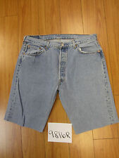 "Levi used 501 high waisted cut off shorts USATag 38"" Meas 35"" Inseam 12"" 9816R"