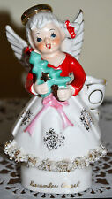 RARE, PERFECT, VINTAGE 1950'S DECEMBER CHRISTMAS BIRTHDAY ANGEL, HOLDS CANDLE