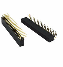 2PCS 2.54mm Double Row 2X20 40Pin Female Right Angle Header Socket Pin Strip  CA