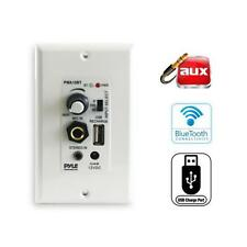 Pyle Wall Plate Amplifier Sound Control W/Aux & Microphone In. USB Charging Port