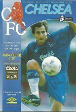 Football Programme - Chelsea v Manchester City - Premiership - 1994