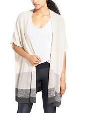 Athleta NWT Cashmere It's a Wrap Sweater ONE SIZE MSRP $198 oatmeal/stripe