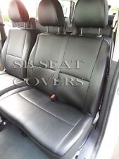TO FIT A CITROEN DISPATCH 9 SEATER, 2012, VAN SEAT COVERS, BLACK LEATHERETTE