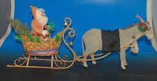 Weihnachtsmann Gespann mit Schlitten & Esel * Deutschland um 1900-1920