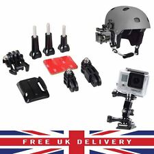 Curvo Ajuste Adhesiva Casco Montaje Lateral Kit Para GoPro HD Hero 1 2 3 3+ UK