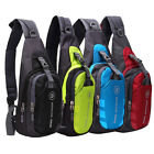 Outdoor Men Waterproof Nylon Chest Shoulder Bag Sport Running Messenger Backpack