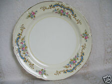 """Beautiful Edwin M. Knowles USA Pink Rose Gold Trim Floral 8 1/4"""" Plate"""