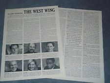 """2001 Interview Article of the cast of TV's The West Wing"""" Lowe Sheen Poilitics"""