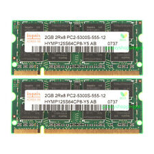 NEW Hynix 4GB 2X 2GB DDR2 667MHz 2Rx8 PC2-5300S 200pin SO-DIMM Laptop Memory
