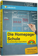 video2brain Die Homepage Schule, 6 Stunden Video-Training auf DVD, NEU