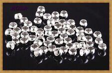 ZK/S/3mm Quetschperlen Crimps 3mm Silber 3mm/50Stück