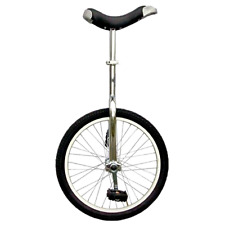 """New Fun Chrome 20"""" Unicycle w/ Alloy Rim Workout Exercise Sporting Cycling Hobby"""