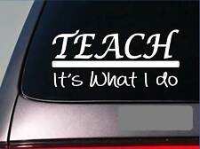 Teach sticker decal *E329* textbook student supplies school teacher desk college