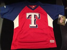Texas Rangers Youth Size 7 Stitches Jersey . Kids Baseball Boys NEW