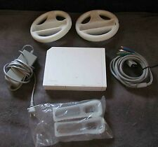 Nintendo Wii Console Bundle RVL-001(USA) Power Cord 2 Wheels Connector Covers