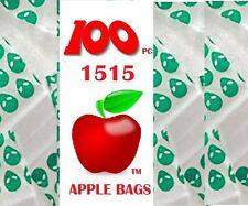 100 pcs Apple zip lock bags mini ziplock small Baggies Alien 38mm x 38mm 1515