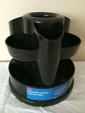Staples Rotating Desk Organizer - 10 Storage Compartments - Black *P