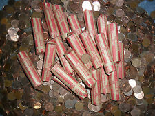 (Z551) One Roll Canadian Copper Pennies(Canada melting down)Getting RARE)86 &---
