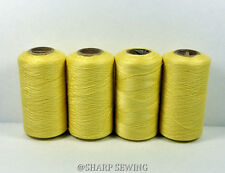 CANARY YELLOW #826 SPUN POLYESTER SERGER & QUILTING THREAD 4 TUBES 1000 YDS. EA