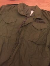 VINTAGE! RARE! 1982 US ARMY M-65 MEDIUM SHORT OG-107 FIELD JACKET GREEN FATIGUE