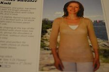 Dovetail Knitting Pattern K2.51 Summer Sweater to Knit One Piece top down 30-50