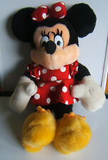 """Disney Minnie Mouse Plush Doll Stuffed Toy 14"""" Mickey for Kids Red Dress"""