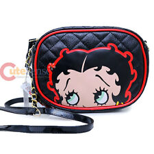 Betty Boop Quilted Crossbody Purse Shoulder Bag with Chain by Loungefly