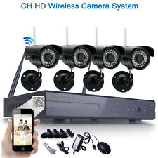 4pcs HD 720P WIFI Wireless IP Camera System 8CH NVR Outdoor Security Video