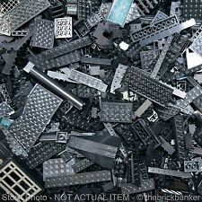 LEGO 1lb BLACK Bulk Pound Lot-SANITIZED-PAIRS MATCHED-Brick Piece Part Random As