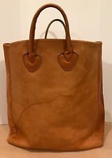 Vintage LL Bean Leather Tote Collectors Item Chic Light Brown Thick RARE Raw