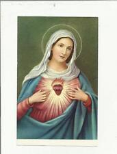 96849 santino holy card  CUORE IMMACOLATO DI MARIA
