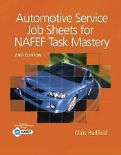 AUTOMOTIVE SERVICE JOB SHEETS FOR NATEF TASK MASTERY - NEW PAPERBACK BOOK