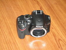 Nikon D3200 BLACK - Mint Cond 649 Shutter Count- Camera Body ONLY - Nothing Else