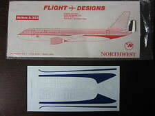 1/144 DECALS FLIGHT DESIGNS NORTHWEST AIRBUS A-320  DECALCOMANIE