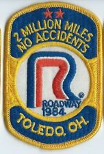 Roadway Express 1984 2 million miles Toledo, OH  drivers patch 4X2-3/4 inch