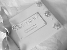 SNOWFLAKE WEDDING ENGAGMENT ANNIVERSARY  Guest Book BOXED