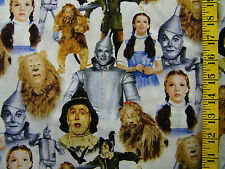 VIP CRANSTON WIZARD OF OZ CHARACTERS ALLOVER 100% COTTON FABRIC BY THE 1/2 YARD