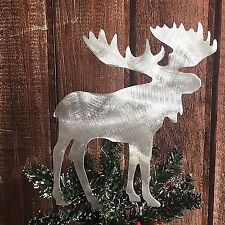 Moose, Metal Christmas Tree Topper, Rustic, Holiday Decoration, Cabin, Country