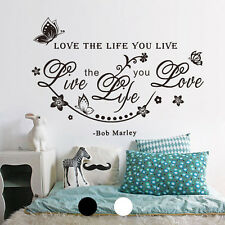 Living Room Quote Art Removable Vinyl Wall Sticker Decal Mural Home Chic Decor