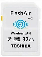 Toshiba SDHC 32GB 32G FlashAir Wi Fi Class 10 C10 Wireless Flash Memory Card New