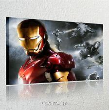 Iron man QUADRI MODERNI ARREDO CASA STAMPE QUADRO TELA AVENGERS FILM MARVEL