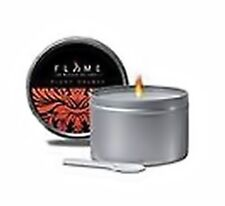 Flame Massage Oil Pourable Soy Candle with Vitamin E. With Blood Orange Scent