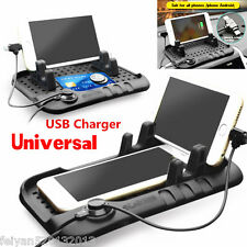Universal Car Dashboard Holder Mount USB Charger Cradle For Cell Phones Non-Slip
