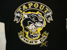 Tapout Fight Co. Sports Casual Panther Growl Black T Shirt XL