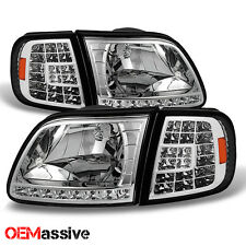 1997-2003 Ford F150 /97-02 Expedition Headlights +LED Corner Signal Lamp Lights